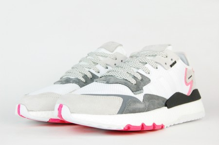 кроссовки Adidas Nite Jogger Gray / White / Red